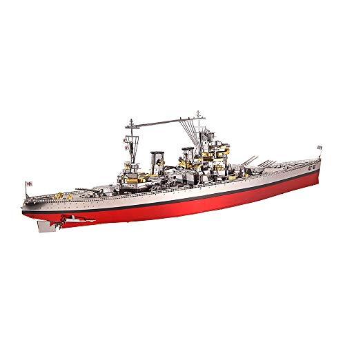 Piecool - Kit de modelos de barcos en 3D de metal cortados con láser para adultos HMS Prince of WALES-282pcs