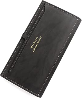 BeniMen's money bag long big capacity multi-card men's wallet-C7701 black