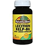 Nature's Blend Lecithin Kelp-B6 with Cider Vinegar 100 Tabs
