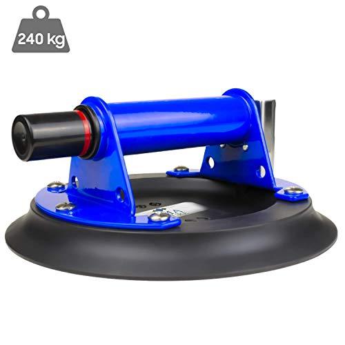Ventosa profesional Ama Nature 240 kg – Ventosa de elevación – Gran resistencia – Uso fácil – Calidad profesional – Versátil y resistente – ☆ Maleta de transporte