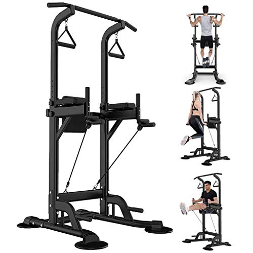 Tengma Dip Station Power Tower Core Strength Training Workout Equipment, Dip Stand Chin Up Bar Core Power Tower Pull Push Home Gym Fitness Equipment for Strong Muscle
