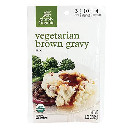 Simply Organic Vegetarian Brown Gravy Mix, Certified Organic, Vegetarian, Gluten-Free | 1 oz | Pack of 12