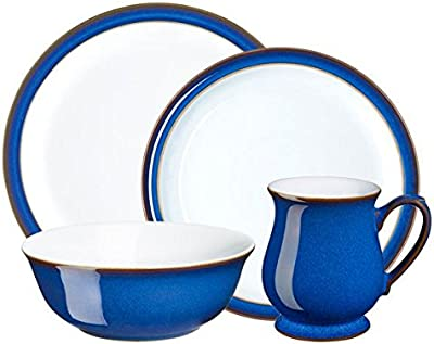 Denby 16 Piece Imperial Blue Dinnerware Set, Royal Blue