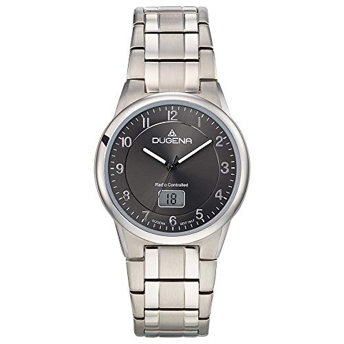 Dugena Herren Quartz-Armbanduhr, Allergikerfreundliches Quartz, Gehärtetes Mineralglas, Gent Quartz, Silber, 4460835