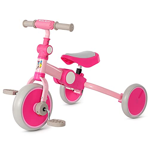 Hello-5ive 3 in 1 Balance Bike for 2-4 Years Old Toddler, Lightweight Baby...