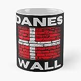 The Danes Wall - Tazza da caffè in ceramica bianca