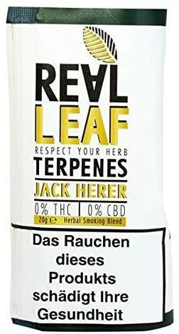 Real Leaf - Mezcla natural de hierbas - Sustituto del tabaco - 100% libre de nicotina y sin tabaco (Real Leaf - Jack Herer, 1 x 20 g).