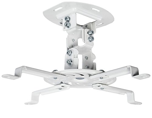 VIVO Universal Adjustable Ceiling Projector, Projection Mount Extending Arms Mounting Bracket, White, MOUNT-VP01W