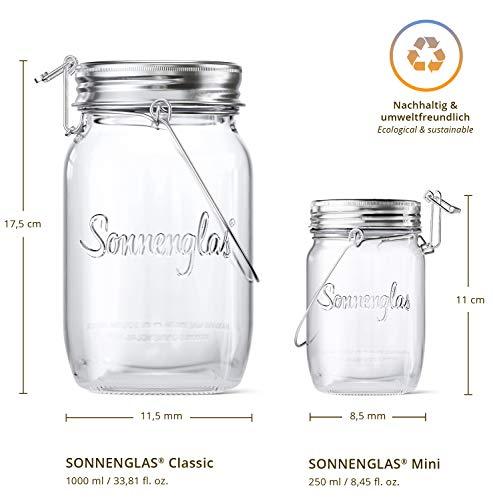 【公式】(ソネングラス)SONNENGLAS®1000mlClassicビン型ソーラーライト|メイソンジャーソーラー太陽光シンプルおしゃれ|インテリアキャンプギフト
