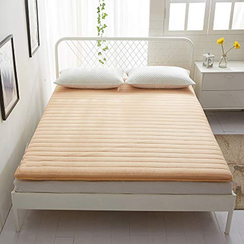LBYLY Single Mattress Seam Thick Mattress With Rubber Mattress Thin Sandpaper Cotton Mattress Suitable For All Season Mattress,150 * 200cm-Orange