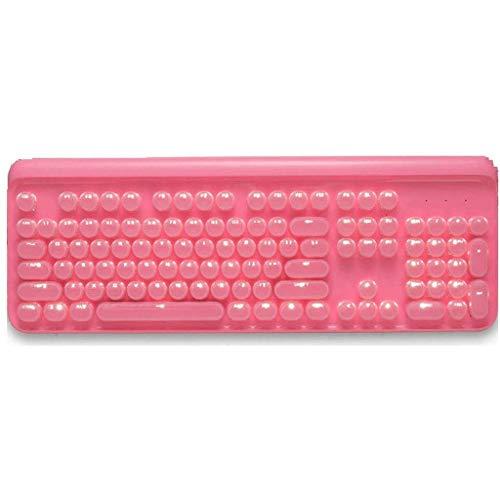 KJRJP Tastatur, mechanische Punk Nettes Mädchen Color Game Wired Keyboard Computer Notebook-Desktop, Multicolor (Color : White)