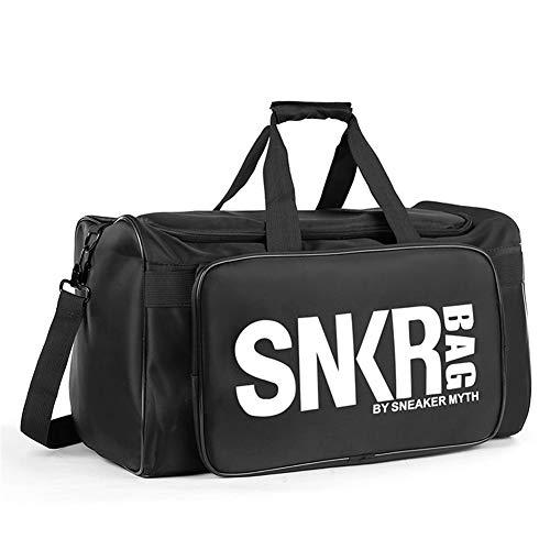 lyl589 Multifunctional Black Sneakers Storage Travel Bag Oxford Cloth Material Sports Fitness Bag Basketball Bag 75L Large Capacity Duffel Bag