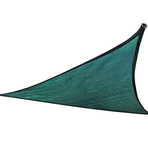 LZ Techo Triangular Verde Oscuro de 10'X 10'X 10 ', Tela de Polietileno de Alta Densidad, Resistente a los Rayos UV, Ligero, fácil de almacenar, Evita Grietas y decoloración en seco