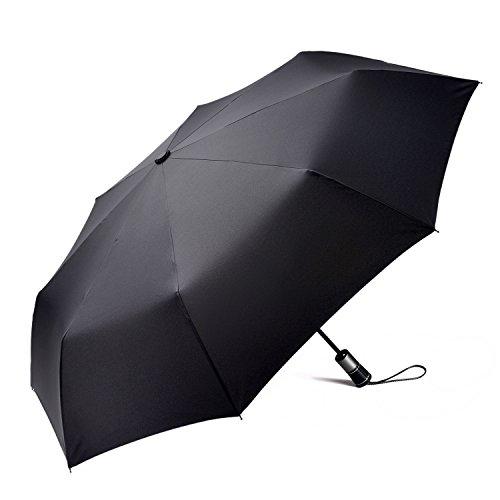 Generic Winddichter Regenschirm mit stabilem Holzgriff, faltbar, für Damen und Herren