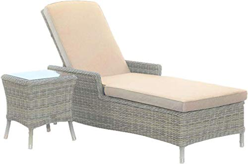 Sol 72 Outdoor Modern Ridgemoor Sun Lounger Set with Cushion and Table