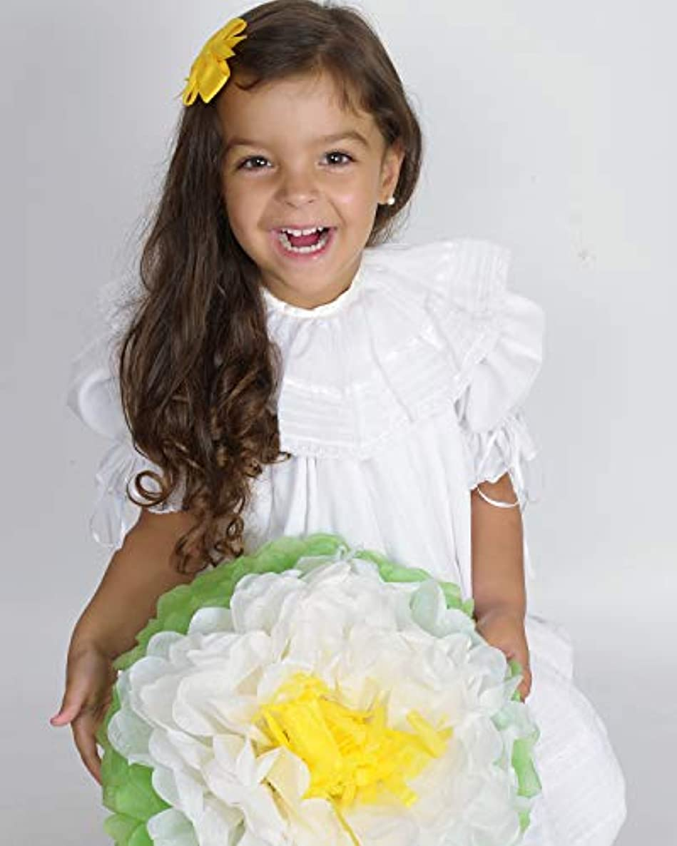 Birthday Party Decorations Paper Flowers White Daisy ! Pack of 8 Pieces Giant 15