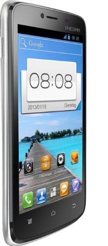 Phicomm i600 Smartphone (10,9 cm (4,3 Zoll) Display, 512MB RAM, Qualcomm 1,2MHz, Dual-Core, Dual-SIM, Android 4.0) schwarz