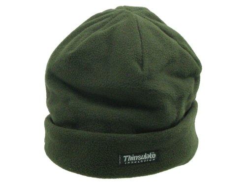 Leichte Wintermütze / Rollmütze aus Fleece, mit Thinsulate Fütterung - olive