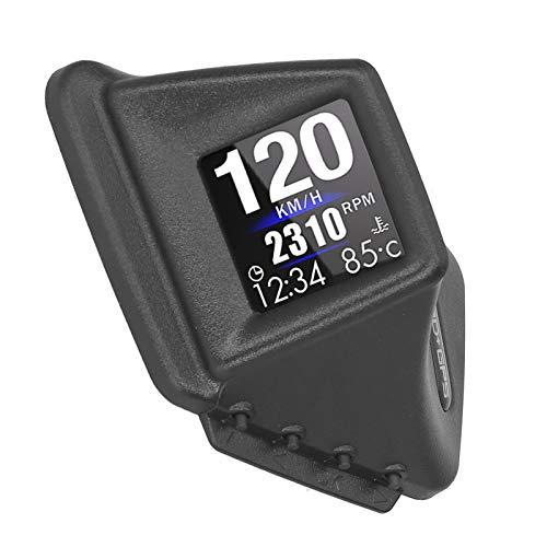 OBD2 GPS Smart Gauge, Universal Car HUD OBD + GPS Head-up Display Instrumento LCD inteligente con rotación de 270 ° Alarma de advertencia de exceso de velocidad Medidor digital multifuncional