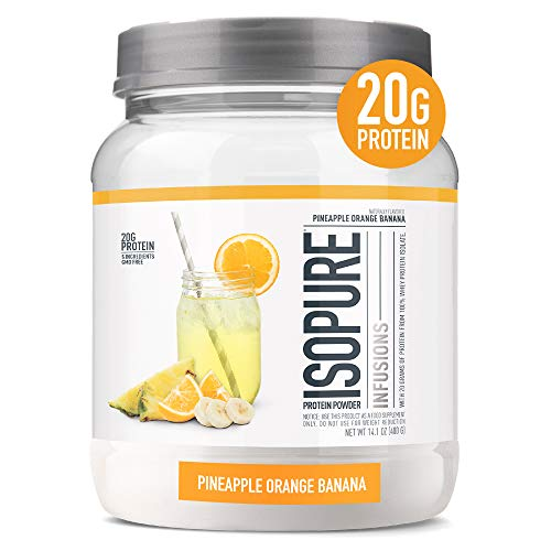 ISOPURE INFUSIONS, Refreshingly Light Fruit Flavored Whey Protein Isolate Powder, 'Shake Vigorously & Infuses in a Minute', Pineapple Orange Banana, 16 Servings