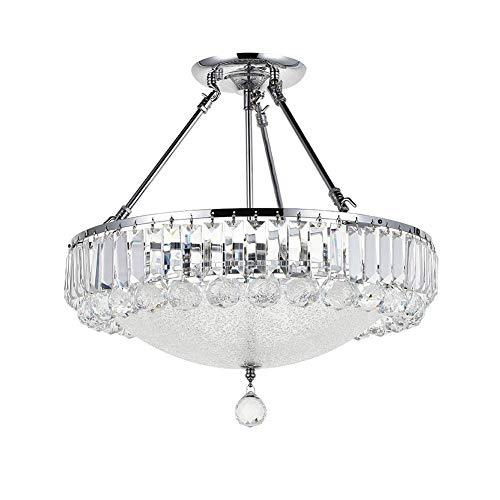 Chandelier de granja Minimalista moderno DIRIGIÓ Restaurant Chandelier Luxury Modern Crystal Chandelier Transparent K9 Crystal Drop Pendant Lamp Aparto, DIRIGIÓ Vidrio Salón Comedor Isla Colgante Lámp