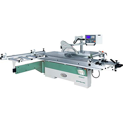 """Grizzly Industrial G0853-14"""" 10 HP 3-Phase Sliding Table Saw with DRO and CNC Fence"""