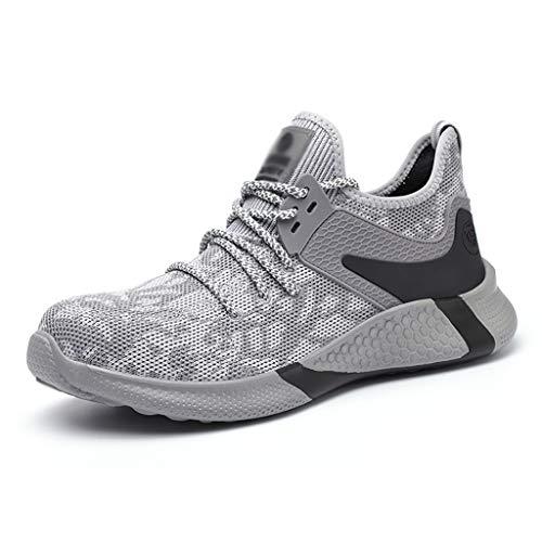 ZYFXZ Zapatos de Seguridad Ligeros  Zapatos Casuales al Aire Libre  Zapatillas industriales, desodorantes de Verano para Hombres y Mujeres, Anti-Piercing Anti-Piercing. Zapatos de Seguridad