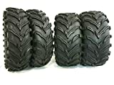Four New K9 Mud 2-26x9-12 Front 2-26x11-12 Rear ATV Tires 6 Ply Rated Heavy Duty