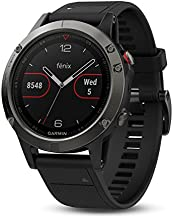 Garmin fenix 5, Premium and Rugged Multisport GPS Smartwatch, Black with Black Band (Renewed)