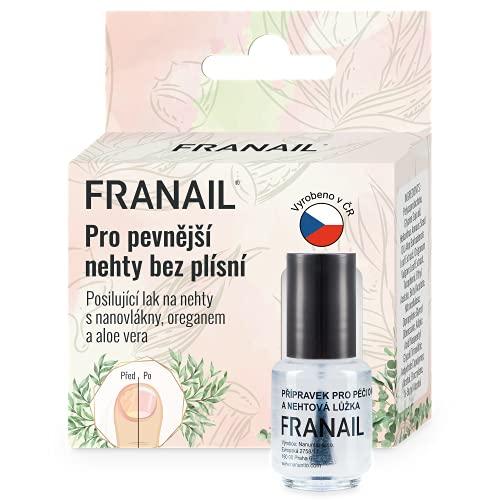 Franail Esmalte de uñas con tratamiento antihongos de uñas 5 ml a base de nanofibras enriquecidas e infundido con aceites naturales