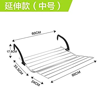 Xixuan Store Fold Balcony of Shoes Rack Glass Desk Diaper Hanging Drying Rack Bathroom Towel Radiator Drying Racks (Color : The Extension of The Number/.)