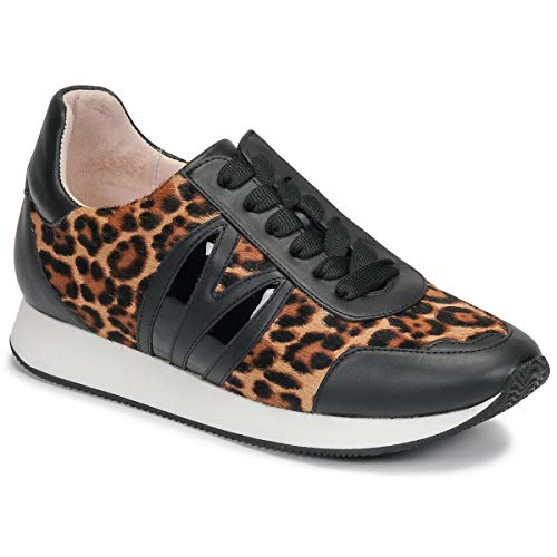 MINNA PARIKKA Bunny Runner Trainers Women Black/Leopard - 5.0 - Low Top Trainers Shoes