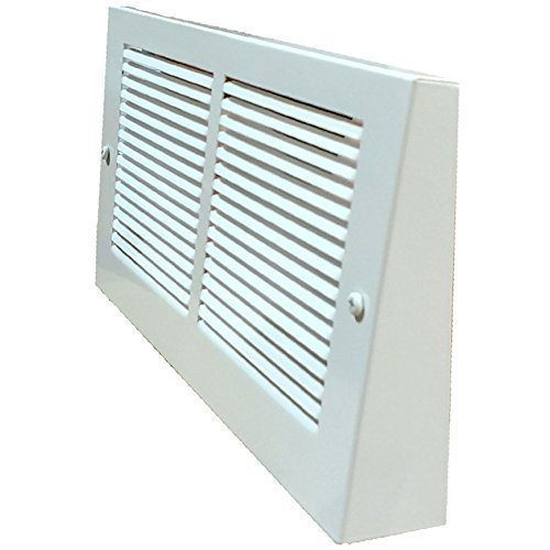 White Projection Baseboard Return Air Grill - 6 Duct Opening Sizes to Choose From (30' x 8')