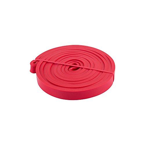 EmpireAthletics – Fascia Elastica in Lattice antistrappo per Training Muscolare con 5 Livelli di difficoltà – Fasce Elastiche in Nastro di Lattice Kraftband allungabili in Rosso 1,3 cm (7-16 kg)