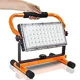 Foco LED con batería, Mefine 30 W, lámpara de trabajo portátil, luz de construcción con puertos...