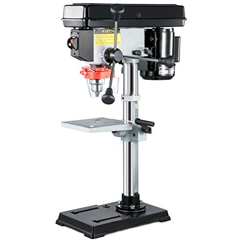 VEVOR Tischbohrmaschine Standbohrmaschine 450W 5-Speed 5/8 Zoll (16 mm) Einstellbar Tisch