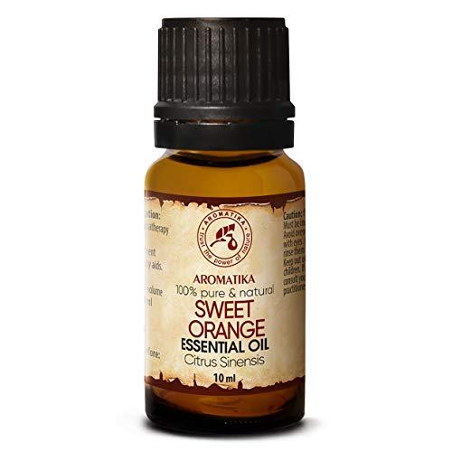 Aceite Esencial Naranja 10ml - 100% Puro & Natural - Brasil - Efecto Contra la Celulitis - Mejor para la Belleza - Aromaterapia - Masaje - Baño - Difusor - de Para un Buen Sueño