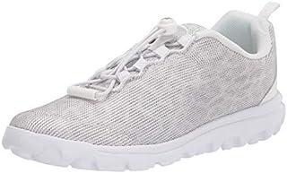 Propét womens Travelactiv Safari Sneaker, White, 6.5 Narrow US