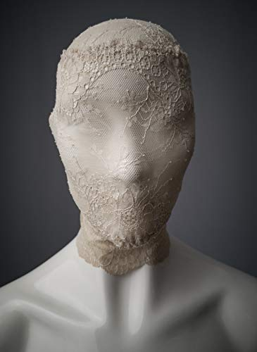 Off white lace head mask/Full face lace mask/Zentai lace hood