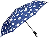 """RainStoppers Umbrella Auto Open/Close Changing Color Flower Print, Navy, 44"""""""