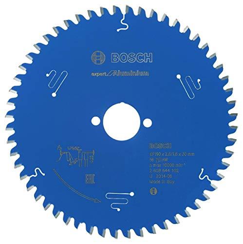 Bosch Kreissägeblatt Expert für Aluminium, 190 x 30 x 2,6 mm, Zähnezahl 56, 1 Stück, 2608644102