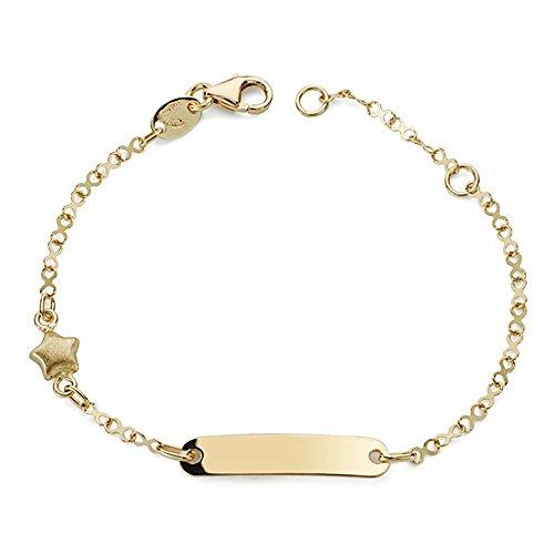 Esclava Oro 18K Bebé Estrella 14cm. [Aa2599Gr] - Personalizable - Grabación Incluida...