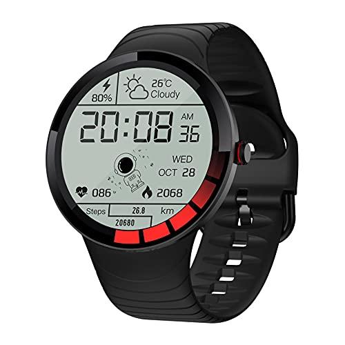 ZGZYL Reloj Inteligente E3 De Los Hombres con La Presión Arterial Y El Control De Las Pulsaciones del Reloj Rastreador De Ejercicios Cronómetro Podómetro IP68 Impermeable Reloj Deportivo
