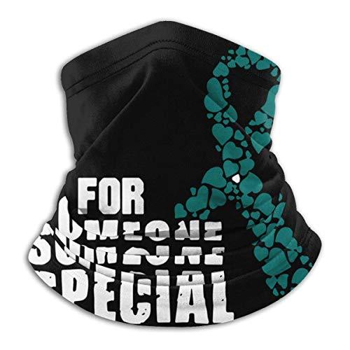 XXWKer Microfibre Chapeaux Tube Masque Visage Tour de Cou Cagoule, Ovarian Cancer Awareness Men Women Cold Weather Ultimate Thermal Retention Face