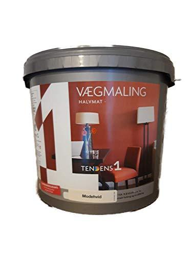 Tendens 1 Wandfarbe Innen Seidenmatt Cremeweiß 9 Liter