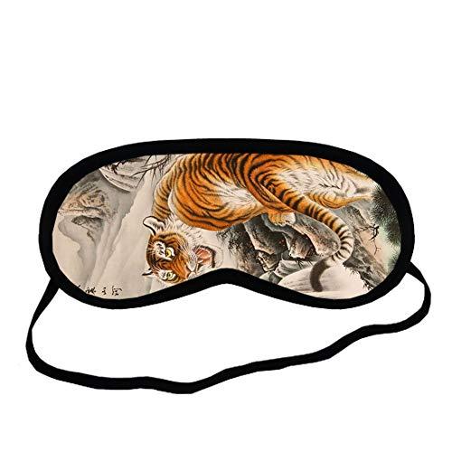 Babu Building Drucken Mit Asian Tiger Zum Sleeping Mask Reine Baumwolle Men Perfekt Choose Design 2-1