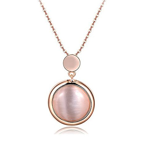 Collana in argento,Ornamenti personalizzati gioielli micro-intarsiato di occhio di gatto signora pietra Collana - confezione regalo