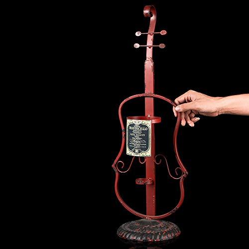 ZXL Freiburg Vintage Weinregal Eisen der Flasche Wein Kreativ Handwerk Instrument Rack Restaurant Die Dekoration ist die Dekoration des Weintisch Wein Schrank Display Regal Halter (Größe: Stil B