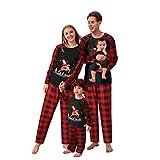 riou Pijamas Navidad para Familias Moon Set Mamá Papá Niños Bebé Manga Larga Homewear Pijamas Navidenos Pareja
