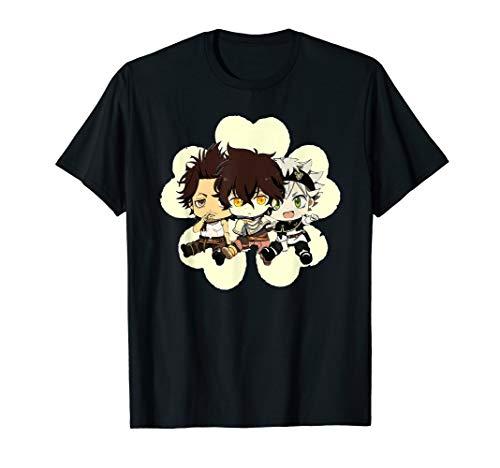 Cute Chibi Clover Black Graphic for men women T-Shirt